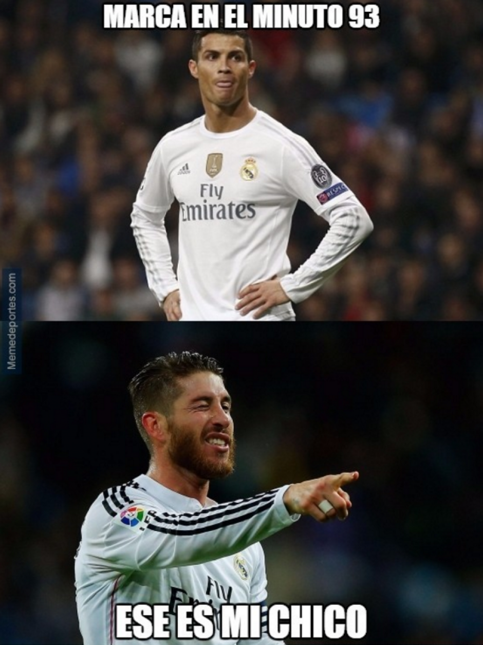 Cristiano marcó a lo Ramos, en el descuento. (MemeDeportes)