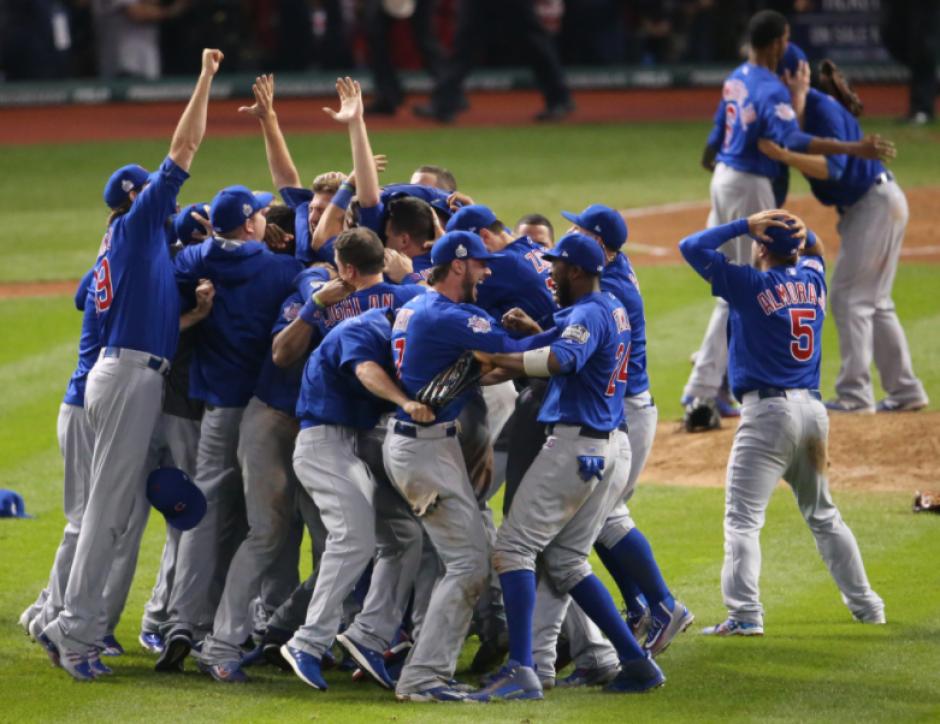 Los Cubs ganaron la MLB después de 108 años. (Foto: AFP)