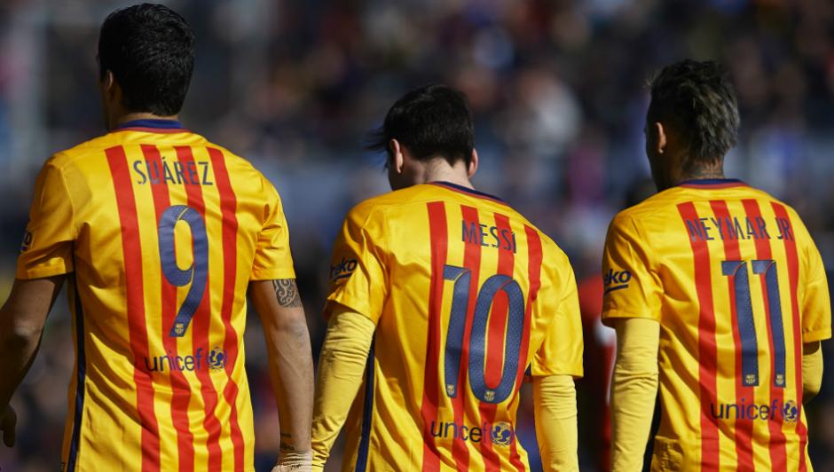 La MSN, el temible trío del FC Barcelona. (Foto: Sport)