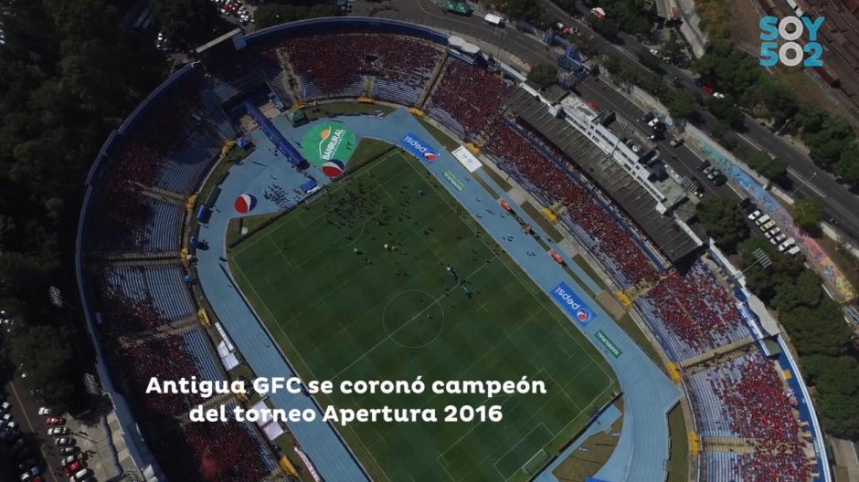 El Doroteo Guamuch Flores lució sus mejores galas para la final del Apertura 2016. (Foto: Captura de video)