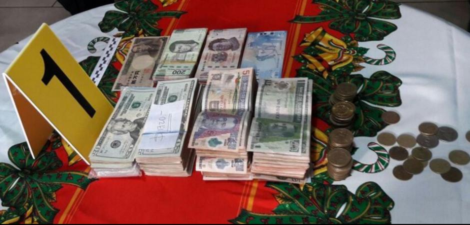 En los 26 allanamientos se localizó dinero en efectivo. (Foto: PNC y MP)