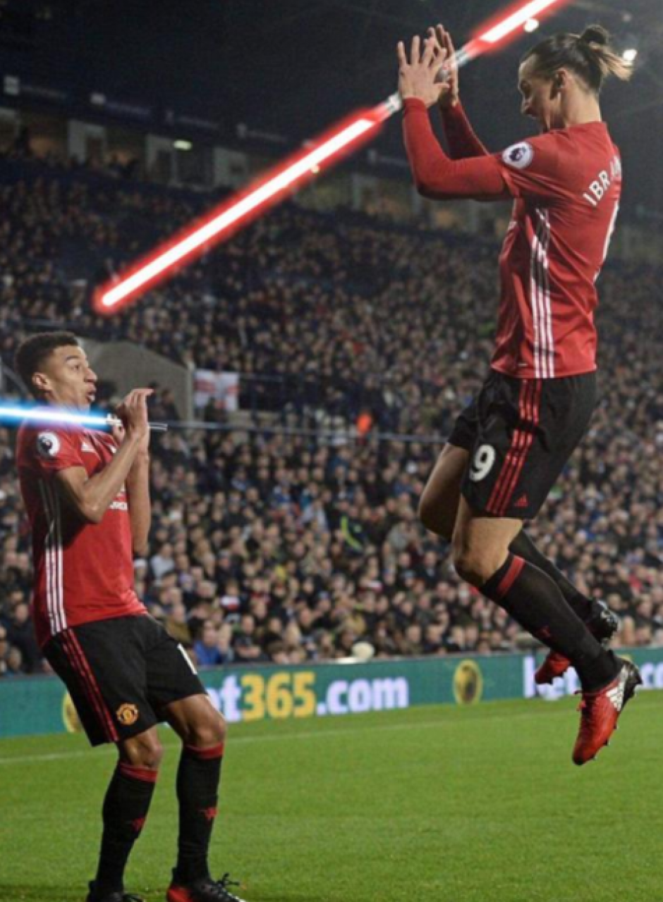 Jesse vs Zlatan, Episodio 8 de Star Wars. (Foto: Twitter)