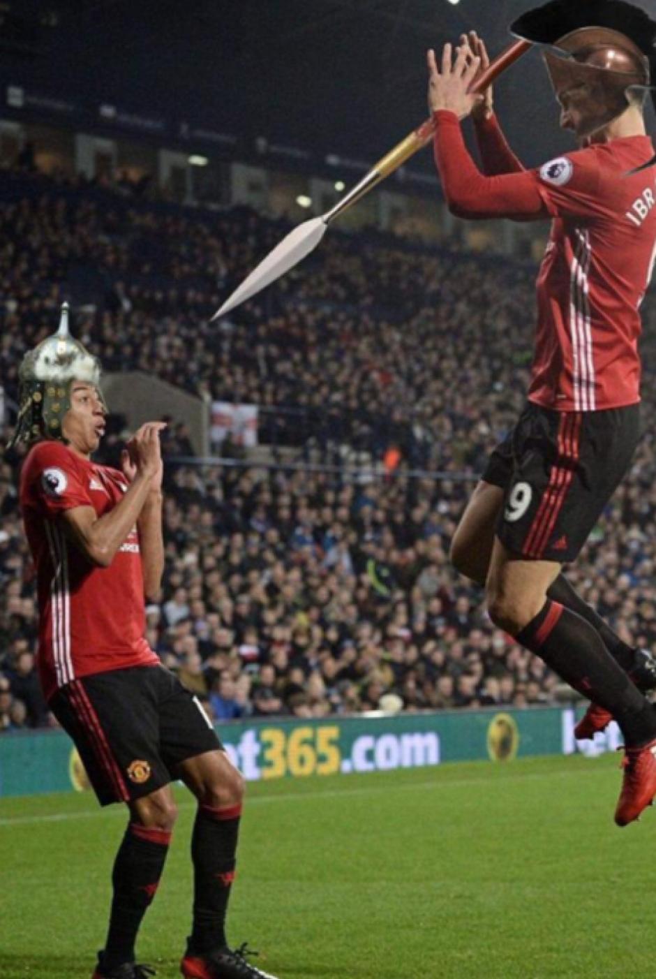 El gladiador Zlatan. (Foto: Twitter)