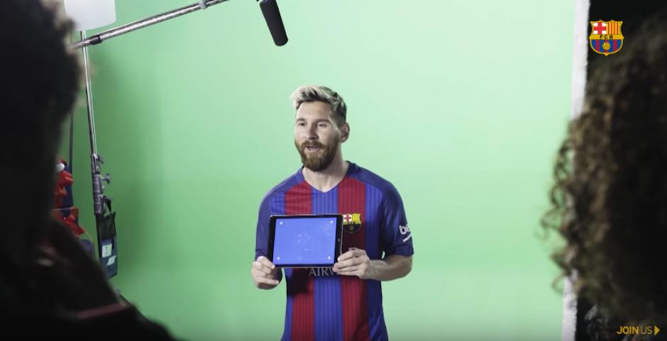 Messi también desea una Feliz Navidad. (Captura de Pantalla)