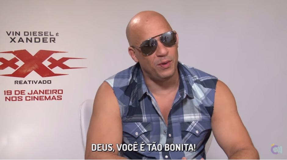 Diesel se aturdió con la belleza de la brasileña. (Captura Youtube)