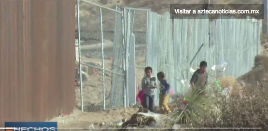 Niños migrantes foto