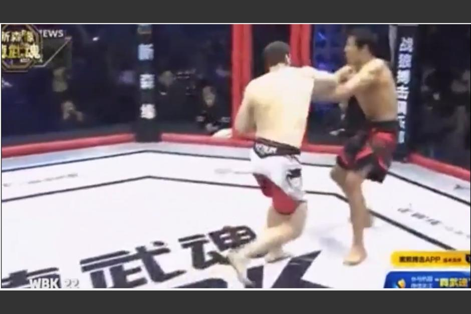 La pelea tuvo lugar este fin de semana en China. (Captura Youtube)