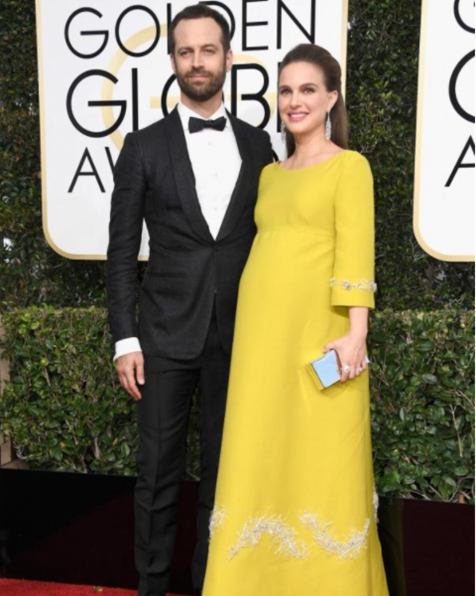 Natalie Portman llegó acompañada de su esposo Benjamin Millepied. (Foto: Frazer Harrison/Getty Images)
