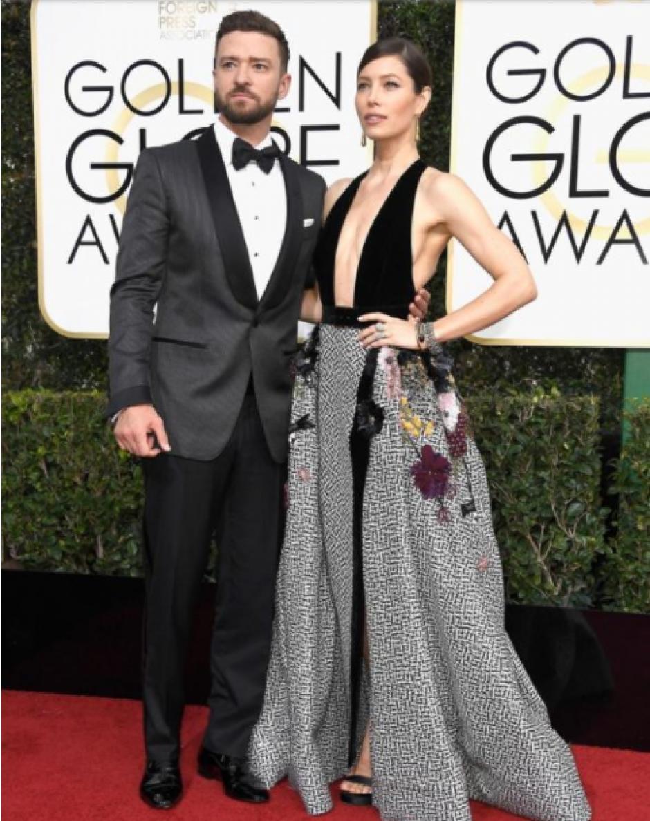 Otra pareja que desbordó estilo fue la de Justin Timberlake y Jessica Biel. (Foto: Frazer Harrison/Getty Images)