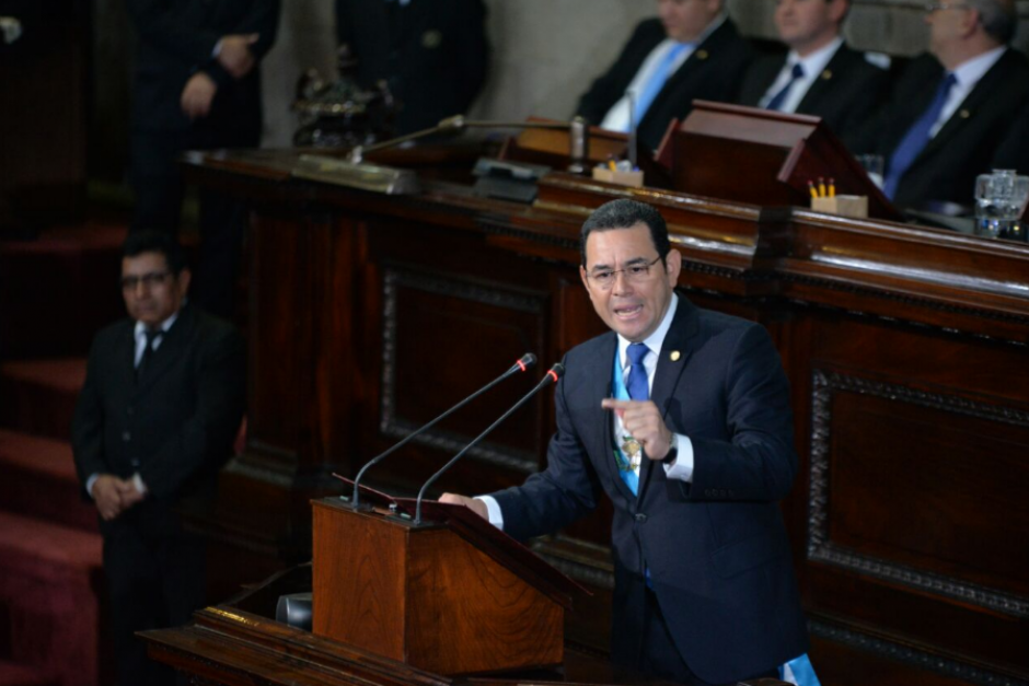El discurso en el Congreso duró más de 50 minutos. (Foto: Wilder López/soy502)