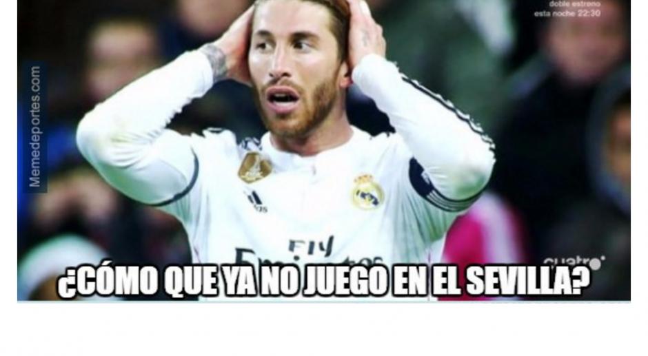 Los memes se fueron contra Sergio Ramos por el autogol. (Foto: memedeportes.com)