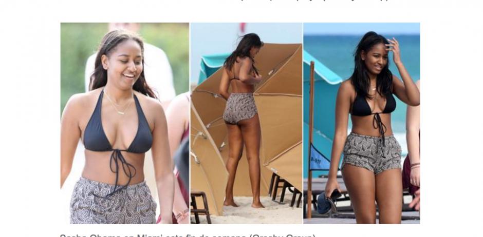 La hija menor de Barack Obama disfruta de las playas en Estados Unidos. (Foto: Grosby Group)
