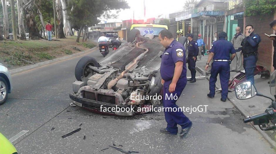 El accidente se registró en la zona 5. (Foto: Twitter/Amilcar Montejo)