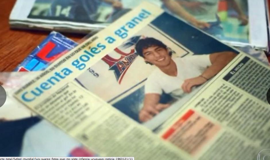 Luis Suárez de adolescente cuando ya figuraba con buen fútbol. (Foto: Globoesporte / GDA)