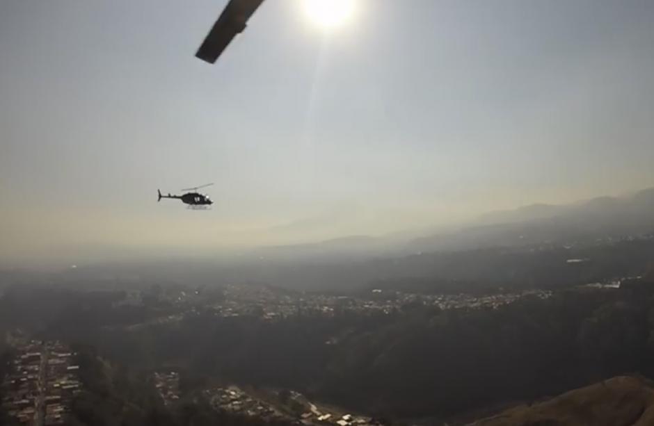El vuelo fue para rendir homenaje póstumo a Héctor Morataya. (Foto: Facebook/Helicópteros de Guatemala)