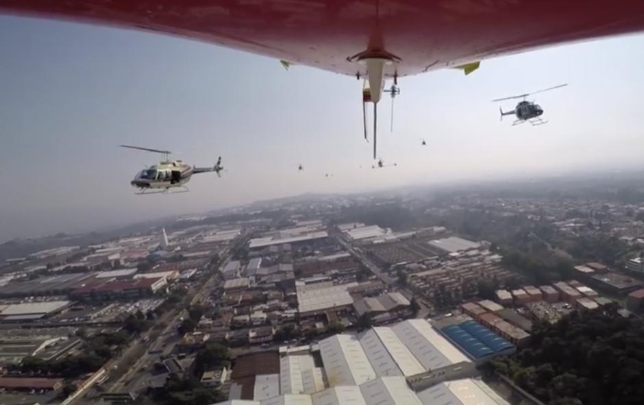 El sobrevuelo de varios helicópteros se reportó el miércoles. (Foto: Facebook/Helicópteros de Guatemala)