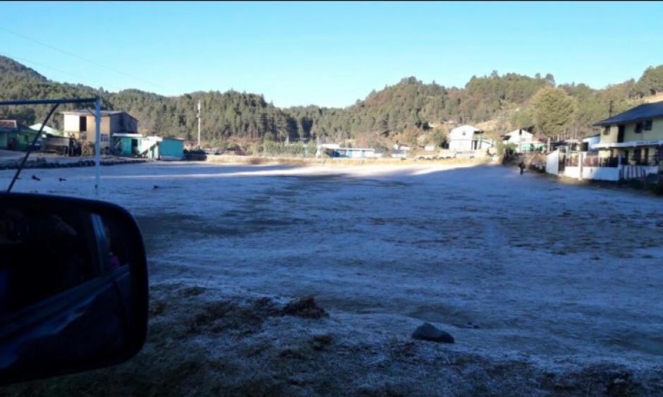 En San Marcos, la temperatura se ha acercado a los cero grados. (Foto: Facebook/Ingrid Xicay)