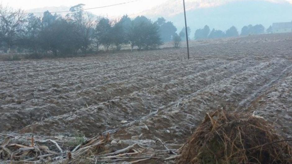 En Quetzaltenango los termómetros al amanecer han marcado -1 y -3 grados. (Foto: Twitter/Stereo 100)