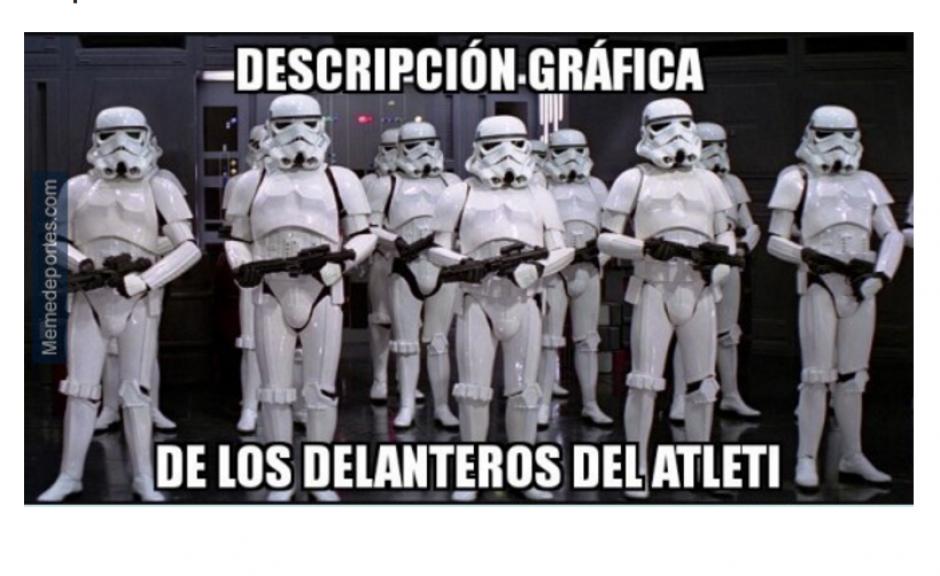 Los delanteros del Atlético se fallaron varias opciones. (Foto: MemeDeportes.com)