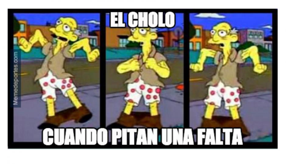 """Los memes también se centraron en el """"Cholo"""" Simeone. (Foto: MemeDeportes.com)"""