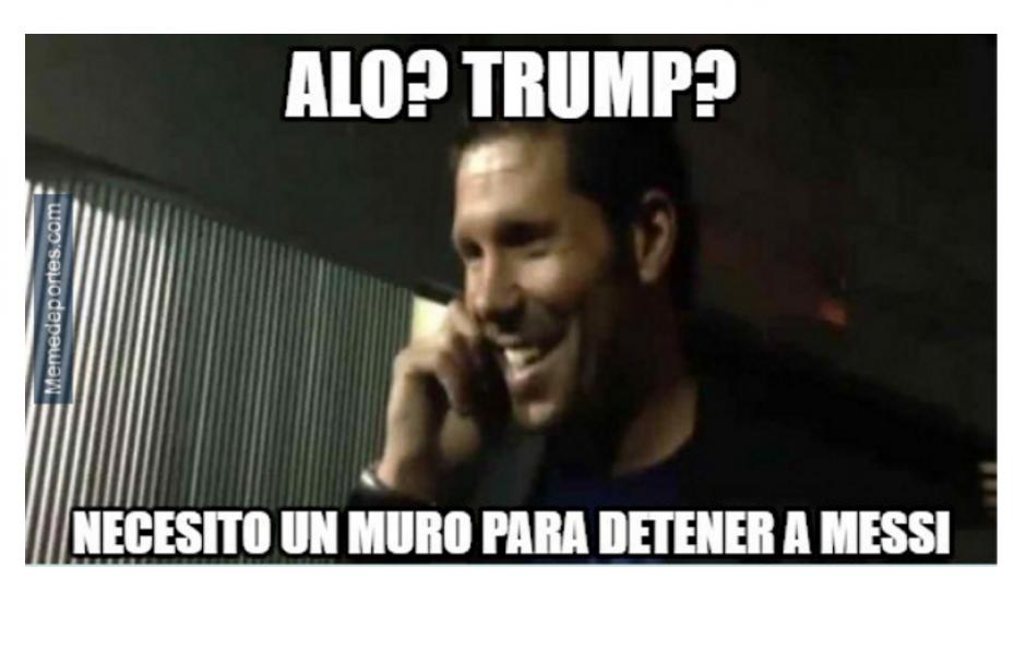 Los memes le pidieron a Trump un muro para frenar a Messi. (Foto: MemeDeportes.com)