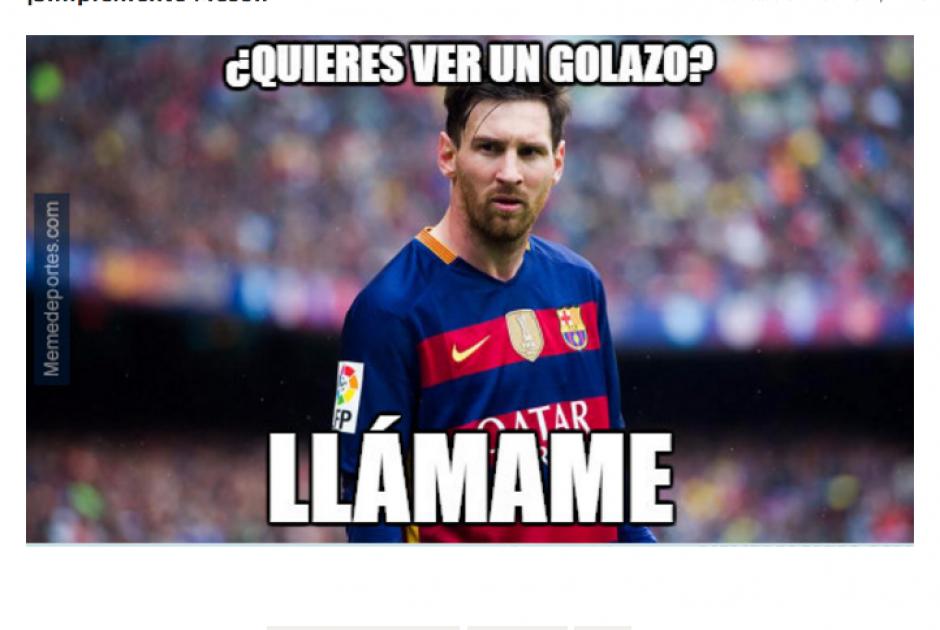 Las cámaras se centraron en la anotación de Lio Messi. (Foto: MemeDeportes.com)