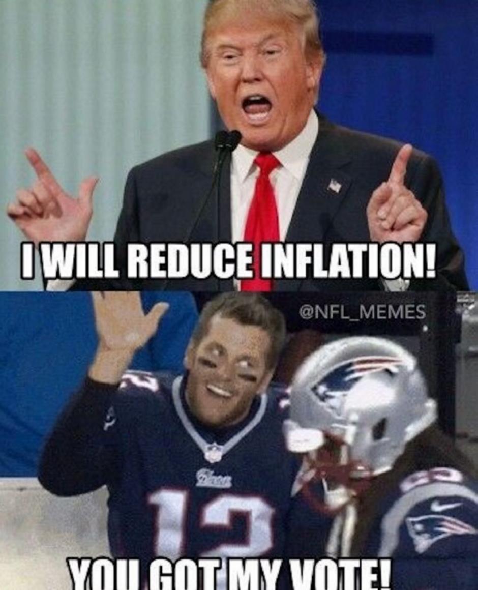 Trump fue claro al decir que apoyaba a los Patriotas y esto motivó burlas. (Imagen: Twitter)