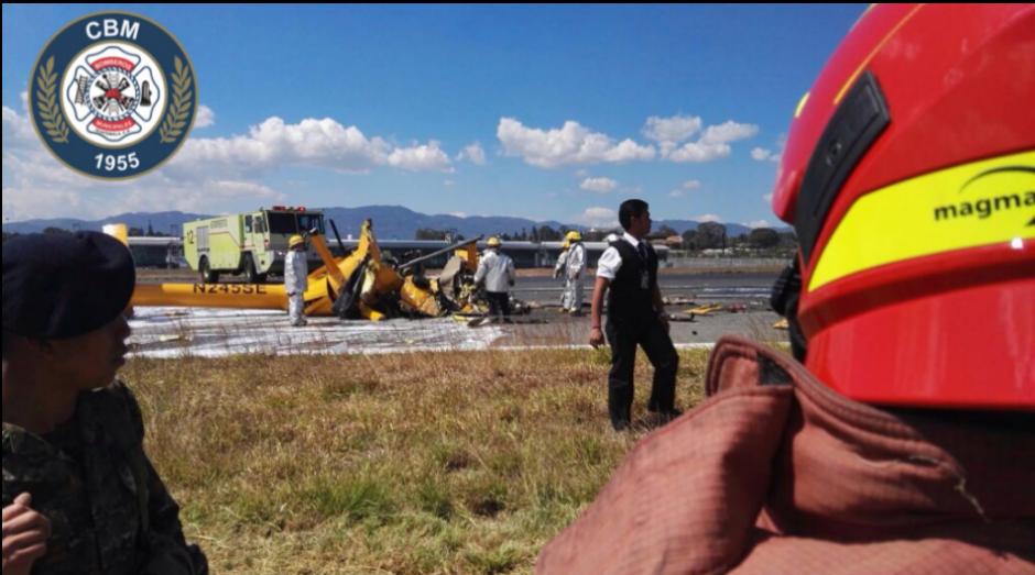 Los cuerpos de socorro no reportan sobrevivientes. (Foto: Bomberos Municipales)