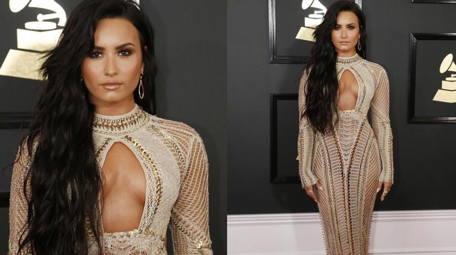 Demi Lovato deslumbró en la fiesta de los Grammy. (Foto: TKM)