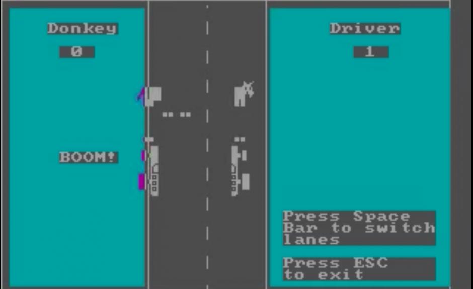 DONKEY.BAS es considerado como una versión mala de Flappy Bird. (Imagen: Captura de pantalla)