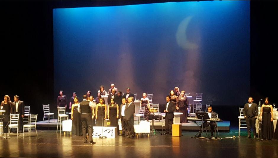 El Coro Nacional de Guatemala ofreció un concierto donde interpretó una canción del artista. (Foto: Cultura y Deportes)