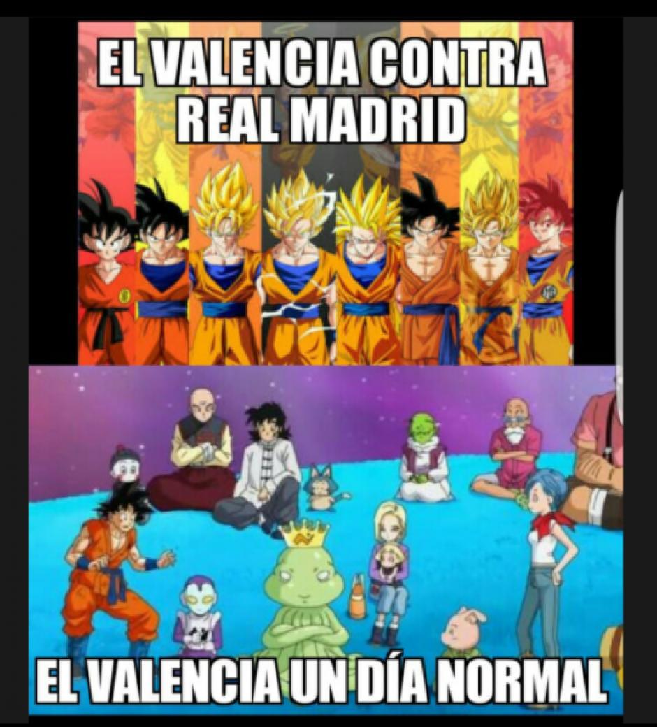 Así es el Valencia con casi todos, pero con el Real Madrid se agiganta. (Foto: Twitter)