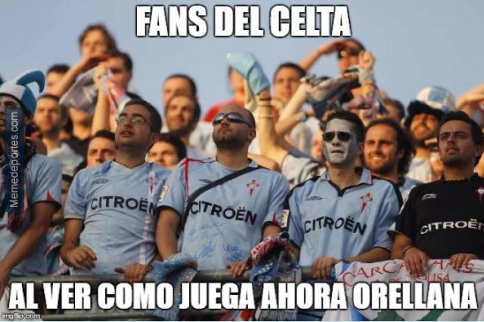 Los seguidores del Celta siguieron el Valencia - Madrid. (Foto: Twitter)
