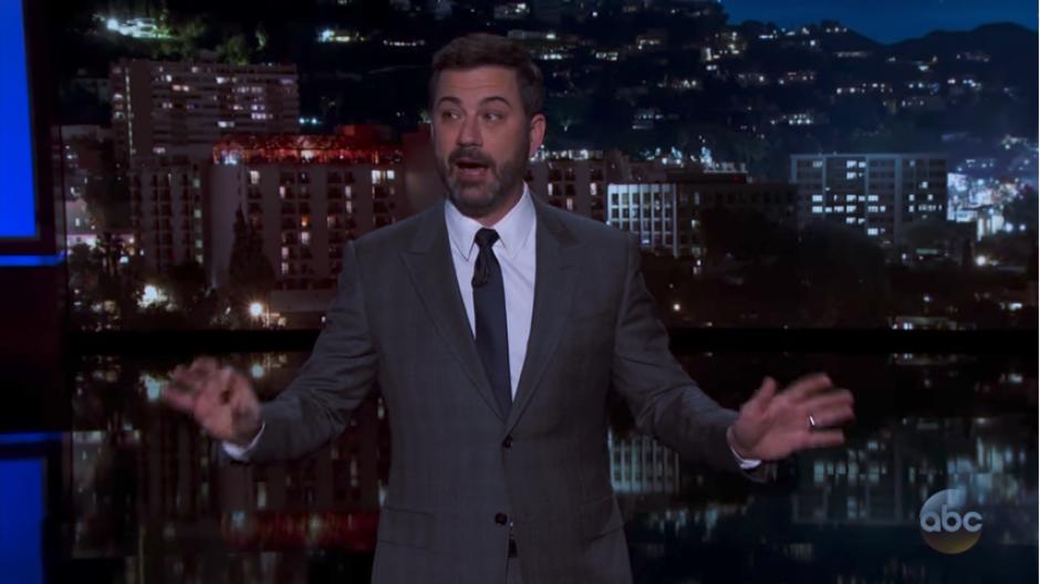 Jimmy Kimmel reveló el incidente después de haber conducido el evento. (Captura Youtube)