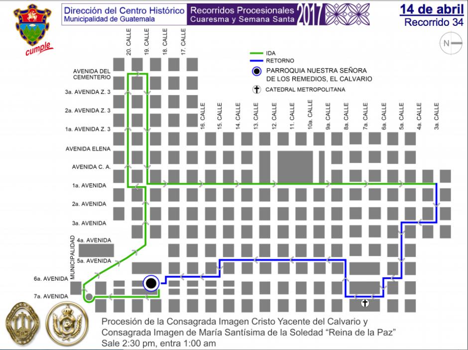 La Municipalidad de Guatemala compartió una serie de mapas. (Foto: Muniguate)