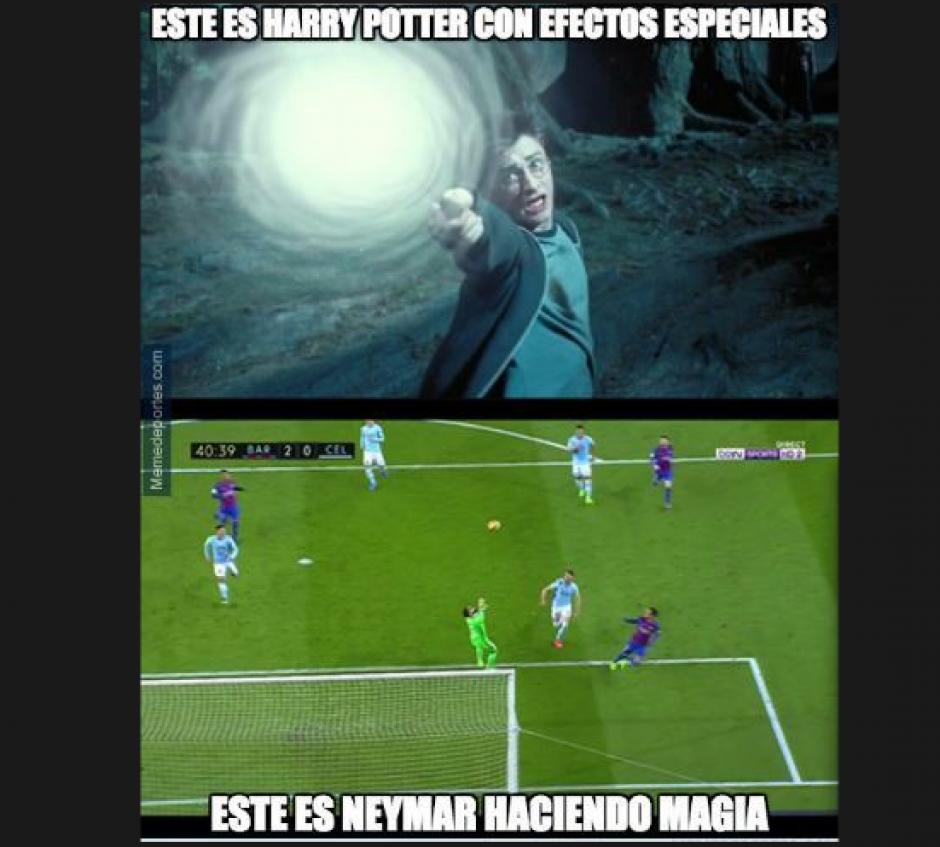 Neymar hizo magia para definir su gol. (Foto: El Comercio)