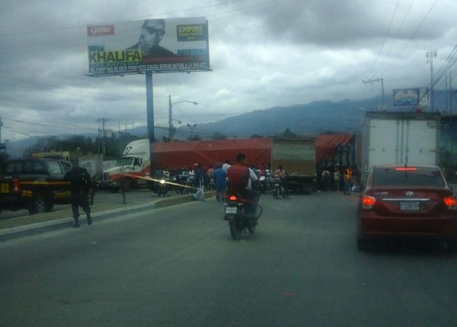 La ruta al Atlántico está colapsada. (Foto: Dalia Santos/PMT Villa Nueva)