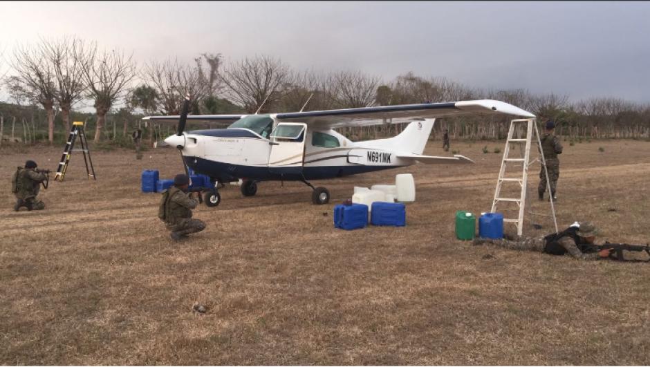 Los radares del Ejército y la Fuerza Aérea dieron con los supuestos narcotraficantes. (Foto: Ejército de Guatemala)