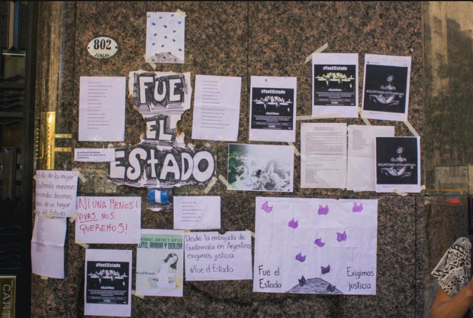 Connacionales radicados en Argentina exigen justicia por la tragedia. (Foto: José López Ruano)