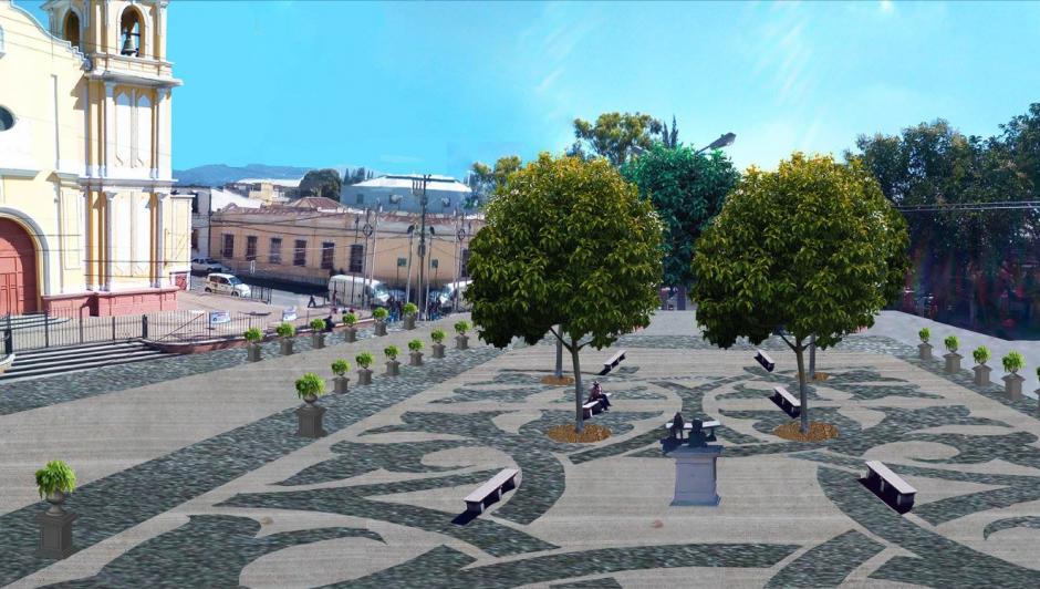 La plaza unirá la calle con el atrio de La Parroquia, pero no será cerrada. (Foto: Muni de Guatemala)