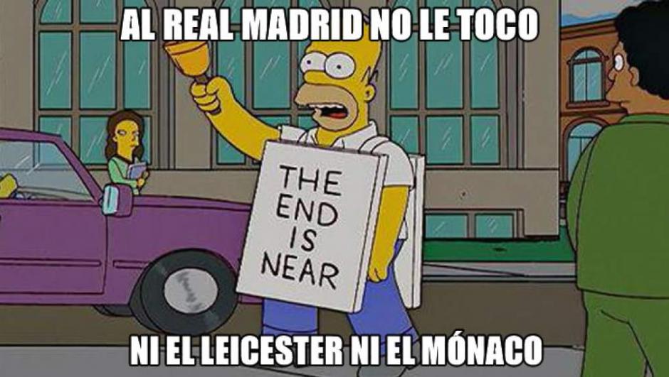 """""""El fin está cerca"""", fue el meme usado de Homero Simpson para referirse a los resultados del sorteo. (Twitter)"""