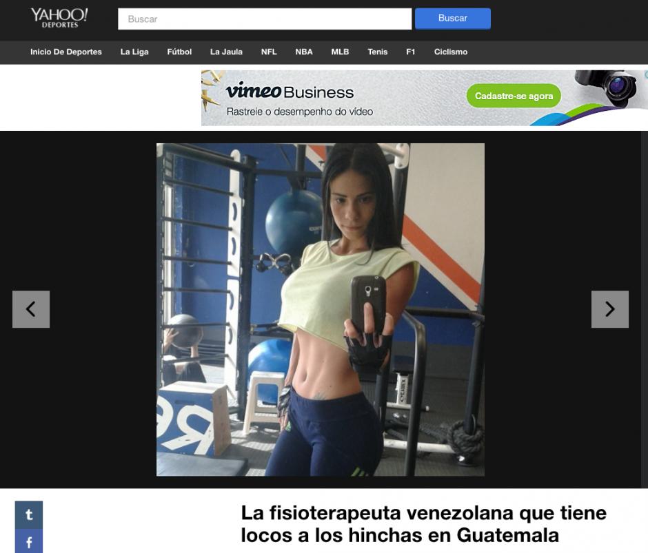 Yahoo Deportes destaca a Laura Bariatti. (Foto: Twitter)