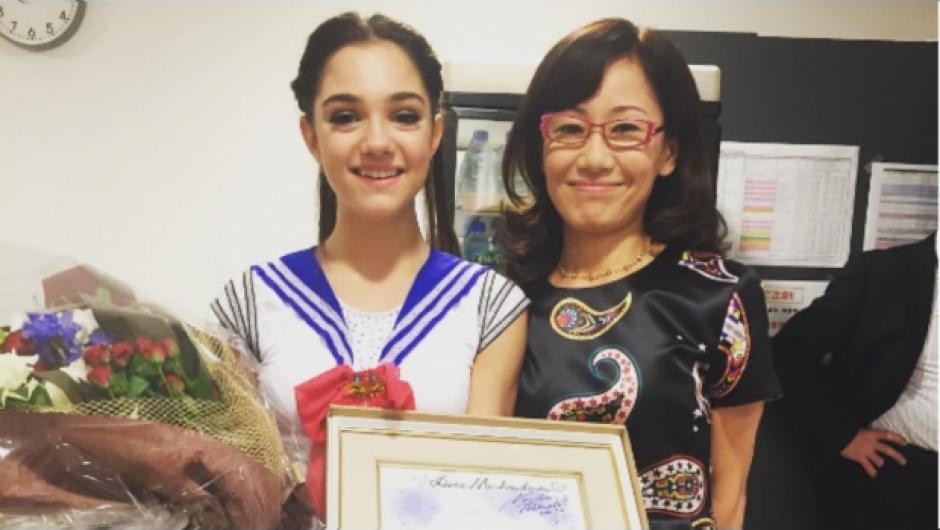 """La patinadora conoció a la creadora de """"Sailor Moon"""". (Foto: sdpnoticias.com)"""