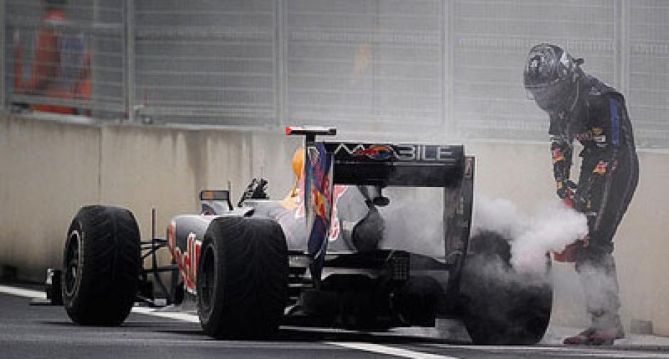 Vettel, Incendio, F1