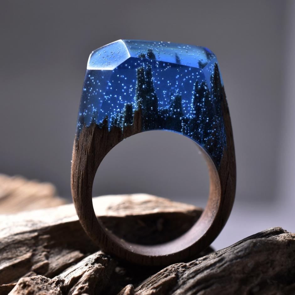 Los anillos están hechos de madera, resina y cera de abejas. (Foto: Secret Wood)