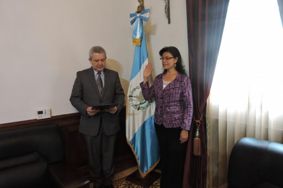 Lourdes Xitumul fue nombrada como Secretaria de la Paz este miércoles. (Foto: Secretaría General de la Presidencia)