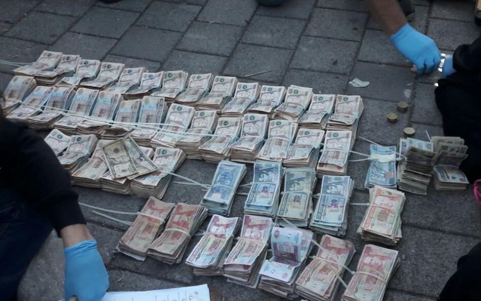 Este fue el dinero que tenía la víctima del secuestro. (Foto: PNC)