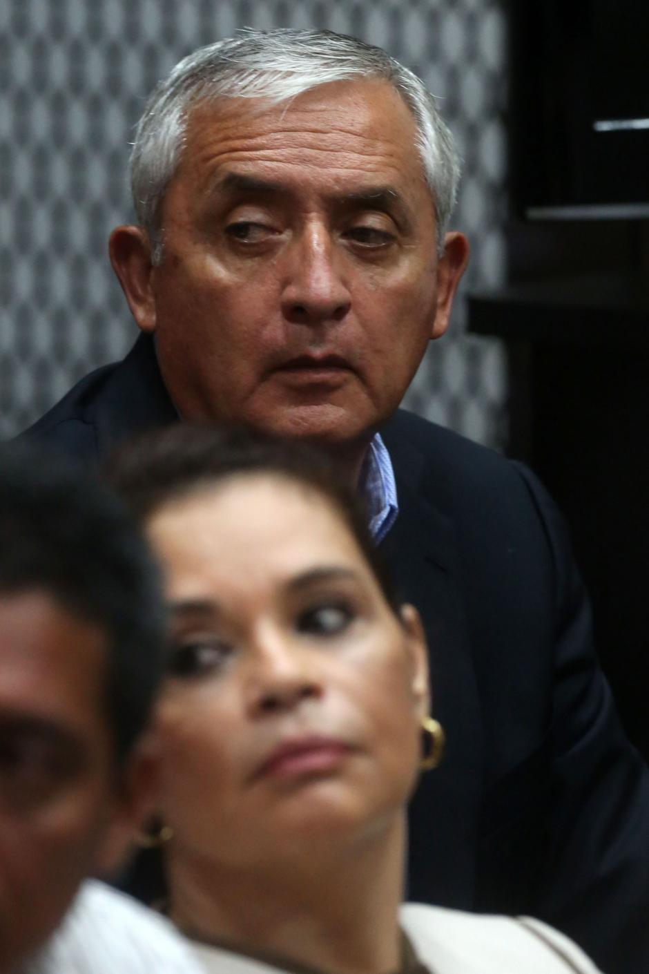 Otto Pérez y Baldetti escucharon dos de las cuatro horas de la declaración de JC Monzón. (Foto: EFE)