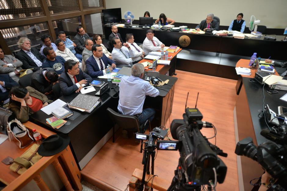 La panorámica de la sala de Mayor Riesgo B en Tribunales. (Foto: Wilder López/Soy502)