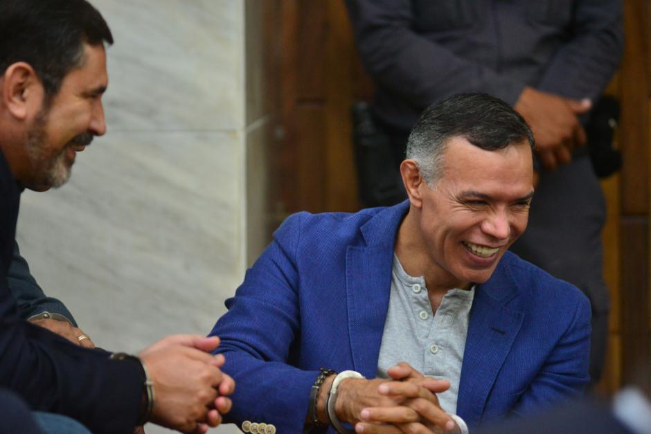 Los militares retirados Juan de Dios Rodríguez y Noe Anzueto, ambos procesados por un caso de corrupción. (Foto: Archivo/Soy502)